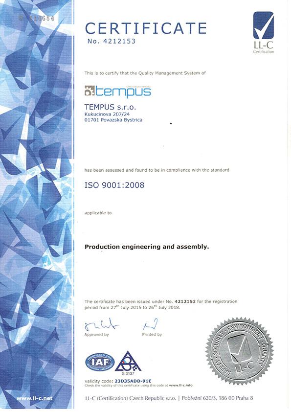 tempus_iso_certificate